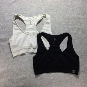 3 for $30 Set of 2- Black/white sports bra size M